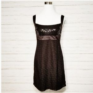 Nanette Lepore Black Silk Sequin Party Dress 8